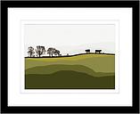 Jacky Al Samarraie - Cows At Lochans, Framed Print & Mount, 44 x 54cm