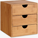 John Lewis & Partners 3-Drawer Chest, Bamboo