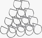 John Lewis & Partners Triangular Wine Rack, 10 Bottle