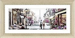 Richard Macneil - Paris Cafe Framed Print,112 x 57cm