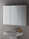 John Lewis & Partners Triple Mirrored Bathroom Cabinet, Silver