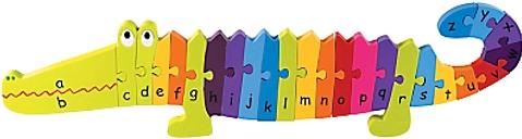 Orange Tree Wooden Alphabet Crocodile Puzzle