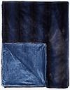 John Lewis & Partners Premium Faux Fur Striped Throw