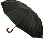 Fulton Dalston Check Umbrella, Charcoal