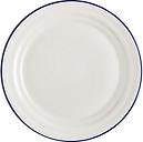 John Lewis & Partners Harbour Blue Rim Dinner Plate, White/Blue, Dia.28.5cm