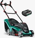 Bosch Rotak 370 Electric Cordless Push Lawn Mower, 37cm, Green