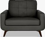 John Lewis & Partners Barbican Leather Snuggler, Dark Leg