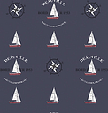 Galerie Yachts & Compass Wallpaper