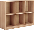 House by John Lewis Cube 2 x 3 Shelf Unit, FSC-Certified, Oak