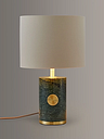 John Lewis & Partners Sylvie Marble Table Lamp, Green
