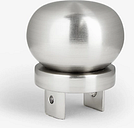 John Lewis & Partners Revolution Multi-Functional Pole System, Button Finial, 30mm, Brushed Nickel