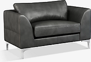 John Lewis & Partners Belgrave Leather Snuggler, Metal Leg