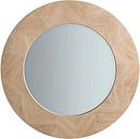 Tapio Wood Inlay Round Mirror, 90cm, Oak