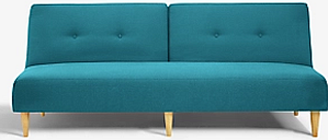 House by John Lewis Clapton Fixed Back Sofa Bed, Light Leg