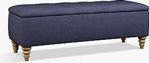 John Lewis & Partners Rouen Upholstered Ottoman Storage Box
