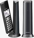Panasonic KX-TGK222EM Digital Cordless Telephone with 1.5 LCD Screen, Nuisance Call Blocker and Answering Machine, Twin DECT, Graphite Grey