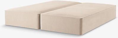 John Lewis & Partners Pocket Sprung 2500 Upholstered Divan Base, Super King Size, Canvas Pebble, FSC-Certified (Pine)