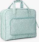 John Lewis & Partners Spot Print Sewing Machine Bag, Duck Egg