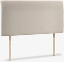John Lewis & Partners Bedford Upholstered Headboard, Super King Size, Canvas Pebble