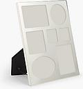 John Lewis & Partners Walton Multi-aperture Large Collage Photo Frame, 7 Photo, Silver