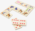 John Lewis & Partners Wooden Jumbo Farm Dominoes