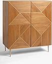John Lewis & Partners + Swoon Mendel 2 Door Storage Cabinet, Brown