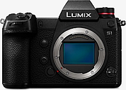 """Panasonic Lumix DC-S1 Compact System Camera, 4K UHD, 24.2MP, Wi-Fi, Bluetooth, OLED EVF, 3.2"""" Tiltable Touch Screen, Body Only, Black"""