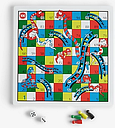 John Lewis & Partners Wooden Snakes & Ladders and Ludo Game