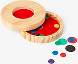 John Lewis & Partners Wooden Tiddlywinks Game