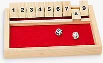 John Lewis & Partners Wooden Shut The Box Game