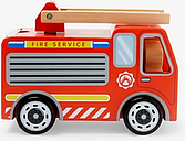 John Lewis & Partners Wooden Fire Engine