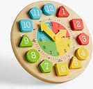 John Lewis & Partners Wooden Teaching Clock