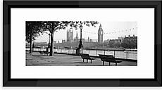 London's Big Ben - Framed Print & Mount, 50 x 100cm