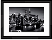 Brooklyn Bridge - Framed Print & Mount, 65 x 85cm