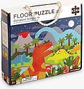 Petit Collage Dinosaur Kingdom Floor Puzzle, 24 Pieces