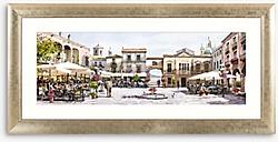 Richard Macneil - Mediterranean Courtyard Framed Print & Mount, 52 x 128cm, Multi