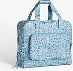 John Lewis & Partners Sketchy Dog Print Sewing Machine Bag, Blue