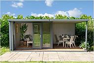Crane Garden Buildings 3 x 5.4m The Hub Plus Left-Hand Corner Garden Studio, FSC-Certified (Scandinavian Redwood)