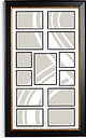 John Lewis & Partners Multi-aperture Photo Frame, 13 Photo, Black/Gold