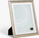 John Lewis & Partners Ribbed Certificate/Diploma Photo Frame & Mount, A4 (21 x 30cm), Champagne