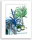 Marta Chojnacka - Group Of Plants Unframed Print & Mount, 50 x 40cm, Green/Multi