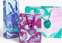 John Lewis & Partners Watercolour Gift Bag