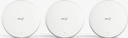 BT Mini Whole Home Wi-Fi, White, Pack of 3