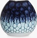 Poole Pottery Ocean Purse Vase, H20cm