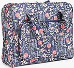 John Lewis & Partners Stems Print Sewing Machine Bag, Navy