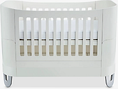 Gaia Baby Serena Complete Sleep Cotbed and Toddler Bed, Natural White