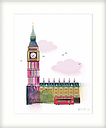 Ilona Drew - Palace of Westminster & Big Ben London Framed Print & Mount, 63.5 x 53.5cm