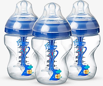 Tommee Tippee Advanced Anti-Colic Baby Bottles, Pack of 3, 260ml, Blue