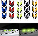 Yellow / Red / Green Common / Individuality Door Stickers / Car Tail Stickers 3D Stickers