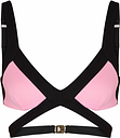 Agent Provocateur Mazzy Pink Cut-out Bikini Top